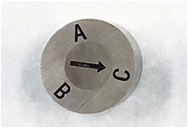 letter A B C mold date insert